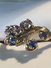 Vintage 14K Yellow Gold Multi-Gemstone Ring~Size 7.25~3.5 Grams