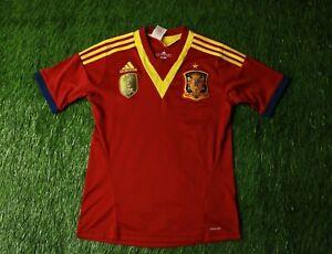 SPAIN TEAM 2013 FOOTBALL SHIRT JERSEY confederation HOME ADIDAS ORIGINAL YOUNG L