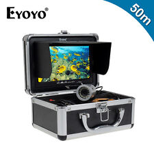 "Eyoyo Underwater 50M Fish Finder Ocean/Ice Fishing Camera 7"" LCD+Lights Control"