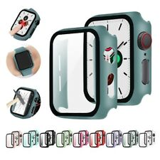 Glass Case For Apple Watch Series 6 5 4 3 2 SE 44mm 40mm Accessories Iwatch Band