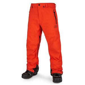 VOLCOM Mens 2020 Snowboard Snow GUIDE GORE-TEX PANT Orange