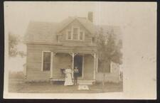 REAL PHOTO POSTCARD LORAINE IL/ILLINOIS LOCAL AREA FAMILY HOMES/HOUSES 1910'S