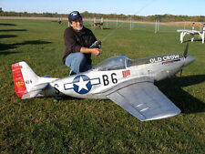 "1/4 Scale P51 Mustang  101""  Giant Scale RC AIrplane Printed Plans & Templates"