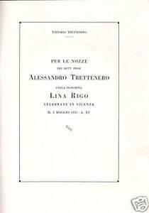 Per nozze Trettenero Rigo Vicenza, 1937