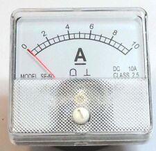 DC Analog Ammeter Panel Mount 0-10 Amp DC  PM0010-DC