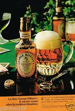 Publicité advertising 1982 La Bière George Killian's