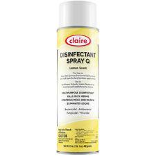 Claire Hospital Grade Disinfectant Spray Q Lemon Scent 17 oz (6 cans)
