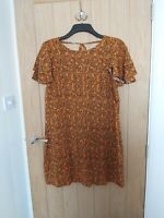 PAPAYA Size 14 Mustard Yellow Leopard Animal Print Summer Dress Matalan