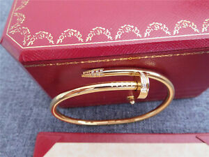 ++++Authentic ++Cartier+++Juste+Un Clou+ Nail+ +Diamonds 18K Yellow Gold Bangle
