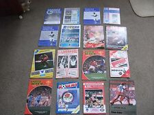 JOB LOT OF 16  x 1980s VINTAGE FOOTBALL PROGRAMMES  UNITED ROVERS LIVERPOOL  ETC