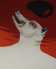 Le loup garou : Lithographie de Félix LABISSE