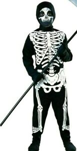Boys Skeleton Costume Child Haunted House Halloween Fancy Dress Kids Outfit New
