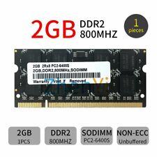 2GB 1G DDR2 800MHz PC2-6400S 200Pin 1.8V SODIMM Black Laptop Memory Notebook RAM