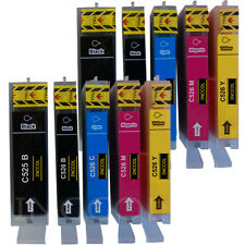 10 Compatible replacements for Canon PGI-525 / CLI-526 printer ink cartridges.