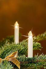 LED Weihnachtskerzen Christbaumkerzen 20er Set inkl. Fernbedienung Kabellos