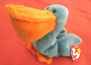 RARE Retired TY Beanie Babies SCOOP Pelican with Errors, Mint Tags 10C#C