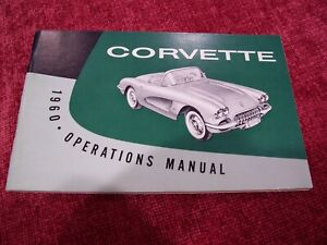 CHEVROLET--1960 CORVETTE Owners Manual--ORIGINAL--NOS---NOT REPRINT