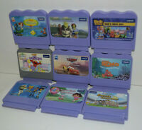 Vtech V.Smile Lot of 9 Game Cartridges - Untested - Dora/Nemo/Cars/Shrek