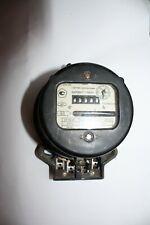 Vintage Round Electrical Watt Hour Meter Russian Soviet Working Condition 1974