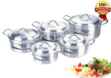 10PC KITCHEN KING COOKING PAN SAUCEPAN POT SET LID COOKWARE CASSEROLE STOCK DISH