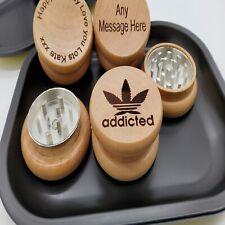 Wood Crusher Herb Grinder rolling tray personalised engraved boyfriend christmas