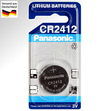 Panasonic CR 2412 Lithium Uhren Batterie Knopf Zelle 3V Battery 3 Volt Uhr Cell