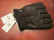 Ugg Men's Black Leather Lined Winter Gloves Sz: XL NWT