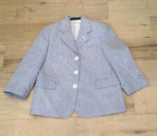 Blue Seersucker Jacket/Blazer Small