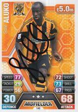 Sone ALUKO mano firmato Hull City 13/14 MATCH ATTAX 2013/2014 Carta.