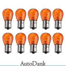 10 STÜCK P21W 12V 21W BAU15s Glüh Lampe Birne amber orange Kfz PKW Blinker