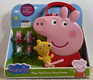 Peppa Pig's Carry Along Friends Case Holds 20 Figures Comes With 4 NEW