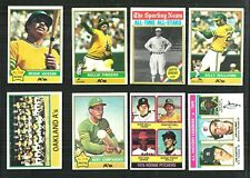 1976 TOPPS OAKLAND A'S Team SET (32) *910809 JACKSON, FINGERS, R/C +++  EXMT-NM