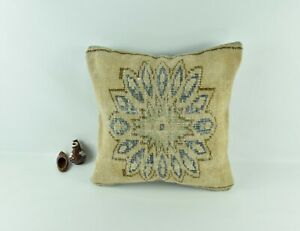 Kilim Pillow Cover 20x20 Decorative Vintage Oushak Kilim Cushion Cover A2780
