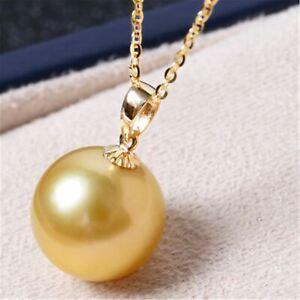 16mm Shell Pearl Pendant Gold Elegant Pendant Jewelry Cultured Luxury Jewelry