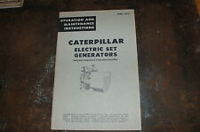 CAT Caterpillar Electric Set Generator Owner Operation Maintenance Manual book