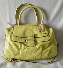 COACH LIMITED EDITION MADISON PINNACLE LILY Yellow PYTHON Leather Handbag 23746