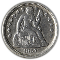 1857-P Seated Liberty Dime Great Deals From Executive Coin Company - BBTE2605