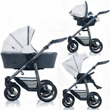 New Venicci Carbo Lux 3 in 1 travel system in Light Grey with car seat bag & pvc