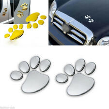 3D Bear Dog Animal Paw Foot Print Car Window Bumper Body Decal Sticker Emblem