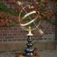 Astrological Sundial, Parkdeko, Country House Sun Dial Made of Brass,