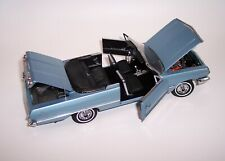 FRANKLIN MINT 1/24 1963 CHEVROLET IMPALA CONVERTIBLE METALLIC BLUE MINT