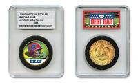 BUFFALO BILLS NFL *GREATEST DAD* JFK 24KT Gold Clad Coin SPECIAL LTD. CASE