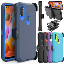 For Samsung Galaxy A11 Case Phone Cover Holster Belt Clip Stand Screen Protector