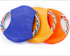 Pet Toys Durability Interactive Training Grinding Disc Flying Saucer Dog Rope