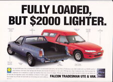 1996 FORD XH FALCON TRADESMAN UTE & VAN 1 Page Brochure