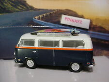 ROAD TRIP Pacific Coast 1971 VOLKSWAGEN T2 VAN✰Blue/wh VW bus✰loose Greenlight