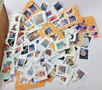 US Stamps lot used On-Paper 4 Lbs Defin.+Comm. taken from business mail - Bulk