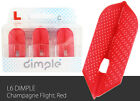 L-Style Slim L6d Dimple Champagne Flights - Red