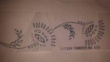 Vintage Floral Border Embroidery Transfer Pattern Robin 1115