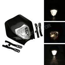 Black Headlight Front Light for Enduro Road Legal KTM XR WR CR RMZ DRZ KLX 250